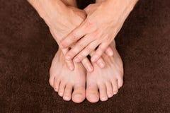 Очистите ногти стоковое изображение rf