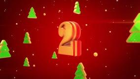 Очистите снежинки 3d на красной предпосылке иллюстрация вектора