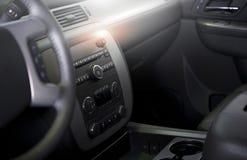 Очистите современный интерьер автомобиля Стоковые Изображения