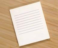 Очистите список покупок Стоковые Изображения