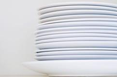 Очистите штабелированные плиты стоковое изображение