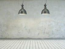 Очистите яркий пустой дизайн интерьера комнаты Стоковое Изображение