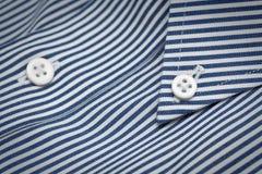 Очистите striped рубашку военно-морского флота Стоковые Изображения RF