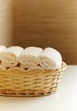 Очистьте белые полотенца Стоковые Фотографии RF