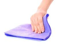 очистьте ветошь руки стоковая фотография rf