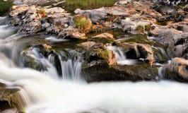 очистьте воду потока принципиальной схемы свежую стоковая фотография