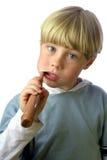 очистьте время зубов Стоковые Фотографии RF