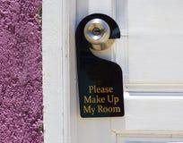 очистьте гостиницу моя пожалуйста бирка комнаты Стоковое Изображение RF