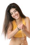 очистьте детенышей воды мыть девушки Стоковая Фотография RF