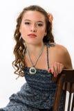 очистьте детенышей кожи портрета девушки милых Стоковое Фото