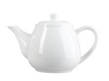Белый чайник Стоковая Фотография