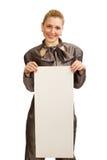 очистьте лист девушки бумажный Стоковая Фотография