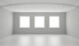 очистьте нутряную новую белизну комнаты Стоковое Изображение RF
