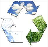 очистьте окружающую среду держа рециркулировать к Стоковые Изображения
