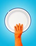 очистьте резину плиты удерживания руки перчатки Стоковое Изображение RF