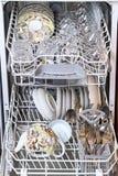 очистьте судомойку тарелок стоковая фотография rf