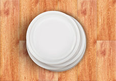 очистьте тарелки стоковое изображение