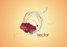 Очистьте флористический вектор Стоковые Фотографии RF