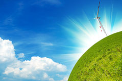 очистьте энергию принципиальной схемы Стоковое фото RF