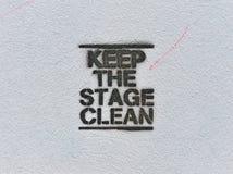 очистьте этап содержания Стоковые Изображения RF