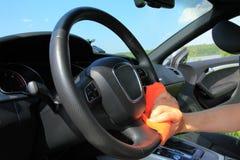 очищает колесо человека Стоковое Изображение RF
