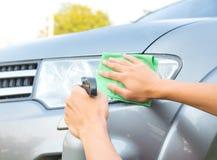 Очищать автомобиль Стоковое Фото