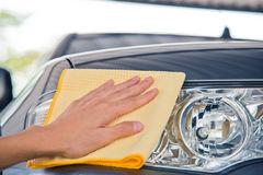Очищать автомобиль Стоковое Изображение