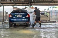 Очищать автомобиль Стоковые Фотографии RF