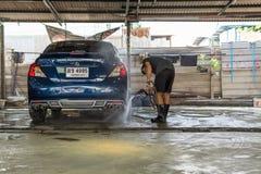 Очищать автомобиль Стоковые Изображения