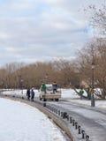 Очищать в парке Стоковая Фотография