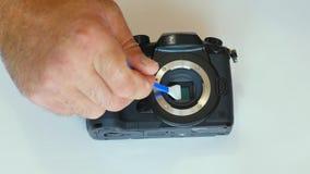 Очищать матрицу камеры пыль на матрице грязь на датчике чистка датчика фоточувствительная матрица сток-видео