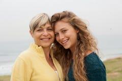 дочь счастливая ее женщина Стоковое Изображение RF