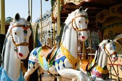 лошади 3 carousel Стоковое Изображение RF