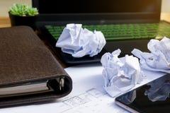 Ошибка дела на рабочем документе стола Стоковое Изображение RF