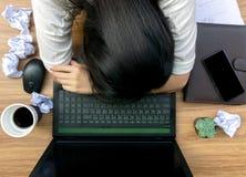 Ошибка дела на рабочем документе стола Стоковые Фотографии RF