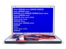 Ошибка компьтер-книжки и голубого экрана Стоковая Фотография