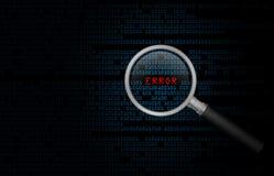 Ошибка электронно-вычислительной машины Стоковое фото RF