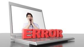 Ошибка электронно-вычислительной машины стоковое фото