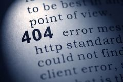 Ошибка Http 404 стоковые фотографии rf