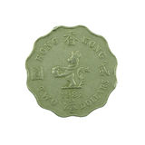 2 доллара монетки Гонконга изолированной на белой предпосылке Стоковая Фотография RF