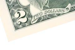 2 доллара счета Стоковые Изображения