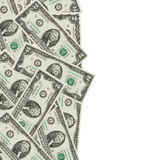 долларовая банкнота месяца наличных денег изолированная на белой предпосылке Стоковое Фото