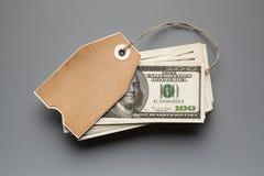 100 долларовые банкноты и карточек чистого листа бумаги Стоковые Изображения RF