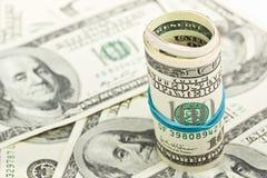 100 100 долларовые банкноты - предпосылка Стоковые Изображения RF