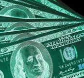 100 долларовые банкноты & x28; банкноты & x29; , U S валюта-- в предохранении от ультрафиолетового света Стоковые Фото