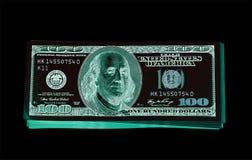 100 долларовые банкноты & x28; банкноты & x29; , U S валюта-- в предохранении от ультрафиолетового света Стоковое Изображение