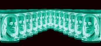 100 долларовые банкноты & x28; банкноты & x29; , U S валюта-- в предохранении от ультрафиолетового света Стоковая Фотография RF