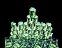 100 долларовые банкноты & x28; банкноты & x29; , U S валюта-- в предохранении от ультрафиолетового света Стоковое Фото
