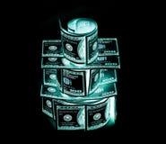 100 долларовые банкноты & x28; банкноты & x29; , U S валюта-- в предохранении от ультрафиолетового света Стоковая Фотография