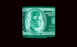 100 долларовые банкноты & x28; банкноты & x29; , U S валюта-- в предохранении от ультрафиолетового света Стоковое Изображение RF